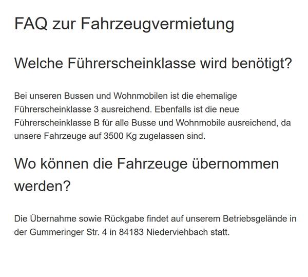 Fahrzeugvermietung für  Vilsbiburg